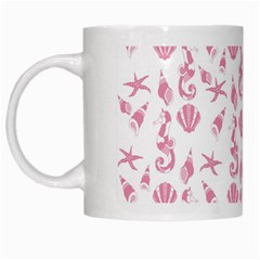 Seahorse Pattern White Mugs by Valentinaart