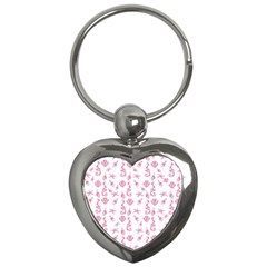 Seahorse Pattern Key Chains (heart)  by Valentinaart