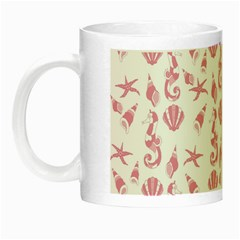 Seahorse Pattern Night Luminous Mugs by Valentinaart