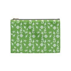 Seahorse Pattern Cosmetic Bag (medium)  by Valentinaart