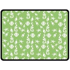Seahorse Pattern Fleece Blanket (large)  by Valentinaart