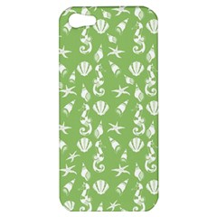 Seahorse Pattern Apple Iphone 5 Hardshell Case by Valentinaart