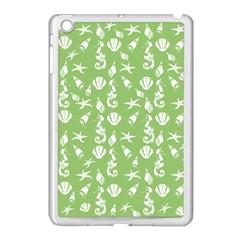 Seahorse Pattern Apple Ipad Mini Case (white) by Valentinaart