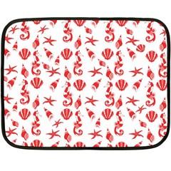 Seahorse Pattern Double Sided Fleece Blanket (mini)  by Valentinaart