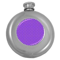 Polka Dots Round Hip Flask (5 Oz) by Valentinaart