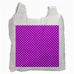 Polka Dots Recycle Bag (one Side) by Valentinaart