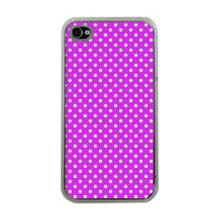 Polka Dots Apple Iphone 4 Case (clear) by Valentinaart