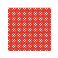 Polka Dots Small Satin Scarf (square) by Valentinaart