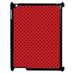 Polka Dots Apple Ipad 2 Case (black) by Valentinaart