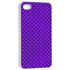 Polka Dots Apple Iphone 4/4s Seamless Case (white) by Valentinaart