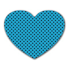 Polka dots Heart Mousepads by Valentinaart