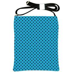 Polka Dots Shoulder Sling Bags by Valentinaart