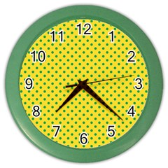 Polka Dots Color Wall Clocks by Valentinaart