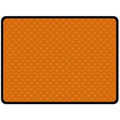 Polka Dots Double Sided Fleece Blanket (large)  by Valentinaart