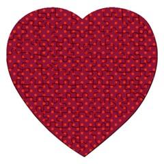Polka Dots Jigsaw Puzzle (heart) by Valentinaart
