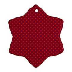 Polka Dots Snowflake Ornament (two Sides) by Valentinaart