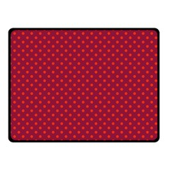Polka Dots Double Sided Fleece Blanket (small)  by Valentinaart