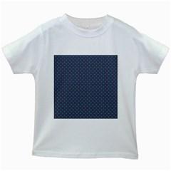 Polka Dots Kids White T Shirts by Valentinaart