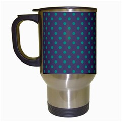 Polka Dots Travel Mugs (white) by Valentinaart