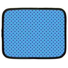 Polka Dots Netbook Case (large) by Valentinaart