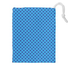 Polka Dots Drawstring Pouches (xxl) by Valentinaart