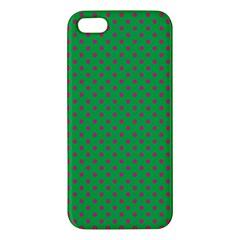 Polka Dots Iphone 5s/ Se Premium Hardshell Case by Valentinaart
