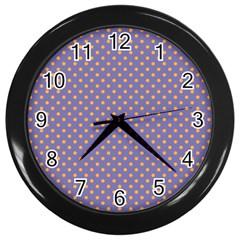 Polka Dots Wall Clocks (black) by Valentinaart