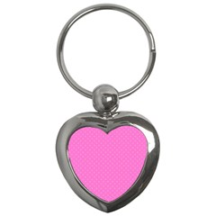 Polka Dots Key Chains (heart)  by Valentinaart