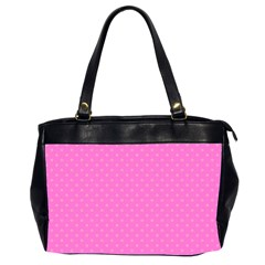 Polka Dots Office Handbags (2 Sides)  by Valentinaart