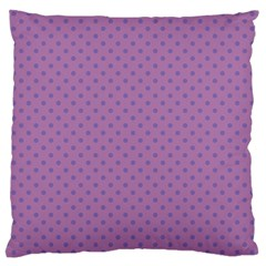 Polka Dots Large Cushion Case (one Side) by Valentinaart