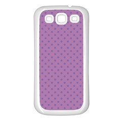 Polka Dots Samsung Galaxy S3 Back Case (white) by Valentinaart