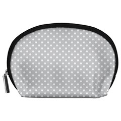 Polka Dots Accessory Pouches (large)  by Valentinaart