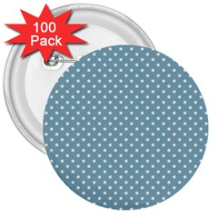 Polka Dots 3  Buttons (100 Pack)  by Valentinaart