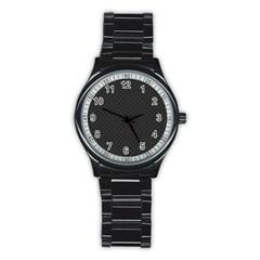 Polka Dots Stainless Steel Round Watch by Valentinaart
