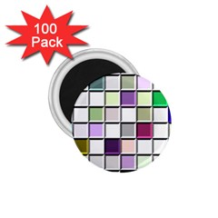 Color Tiles Abstract Mosaic Background 1 75  Magnets (100 Pack)  by Simbadda