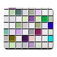 Color Tiles Abstract Mosaic Background Large Mousepads by Simbadda