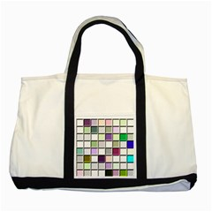 Color Tiles Abstract Mosaic Background Two Tone Tote Bag by Simbadda