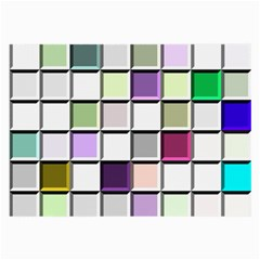 Color Tiles Abstract Mosaic Background Large Glasses Cloth (2 Side) by Simbadda