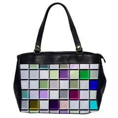 Color Tiles Abstract Mosaic Background Office Handbags by Simbadda