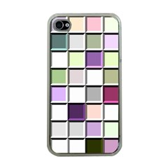 Color Tiles Abstract Mosaic Background Apple Iphone 4 Case (clear) by Simbadda