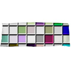 Color Tiles Abstract Mosaic Background Body Pillow Case Dakimakura (two Sides) by Simbadda
