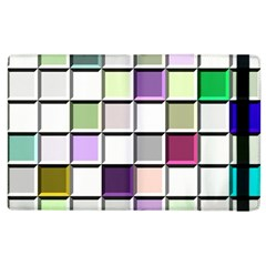 Color Tiles Abstract Mosaic Background Apple Ipad 2 Flip Case by Simbadda