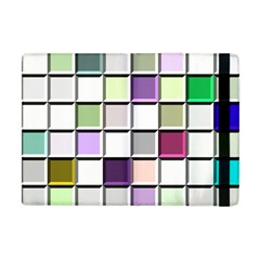 Color Tiles Abstract Mosaic Background Apple Ipad Mini Flip Case by Simbadda