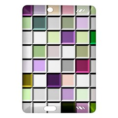 Color Tiles Abstract Mosaic Background Amazon Kindle Fire Hd (2013) Hardshell Case by Simbadda