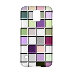 Color Tiles Abstract Mosaic Background Samsung Galaxy S5 Hardshell Case  by Simbadda