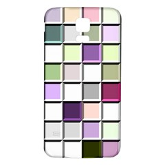 Color Tiles Abstract Mosaic Background Samsung Galaxy S5 Back Case (white) by Simbadda