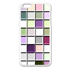 Color Tiles Abstract Mosaic Background Apple Iphone 6 Plus/6s Plus Enamel White Case by Simbadda