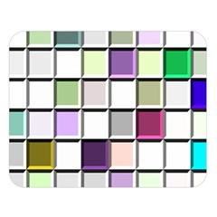 Color Tiles Abstract Mosaic Background Double Sided Flano Blanket (large)  by Simbadda