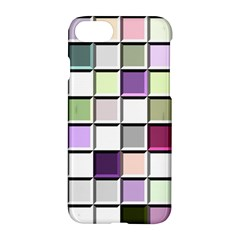 Color Tiles Abstract Mosaic Background Apple Iphone 7 Hardshell Case by Simbadda