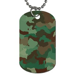 Camouflage Pattern A Completely Seamless Tile Able Background Design Dog Tag (one Side) by Simbadda